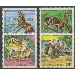 Comores - 1977 - No 175/178 - Mammifères - Reptiles