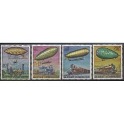 Comores - 1977 - No 179/182 - Ballons - Dirigeables