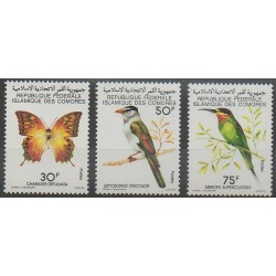 Comores - 1979 - No 253/255 - Oiseaux - Insectes