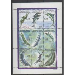 Comores - 1998 - No 747/755 - Animaux préhistoriques - Animaux marins