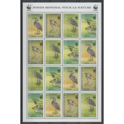 Centrafricaine (République) - 1999 - No F1522/1525 - Espèces menacées - WWF - Oiseaux
