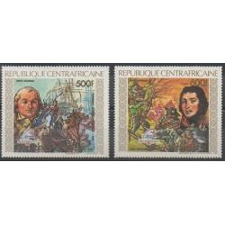 Centrafricaine (République) - 1989 - No PA387/PA388 - Révolution Française - Exposition