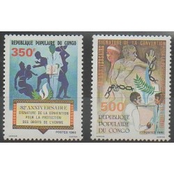 Congo (Republic of) - 1980 - Nb 579/580 - Various Historics Themes