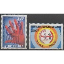 Congo (République du) - 1984 - No 743/744 - Santé ou Croix-Rouge