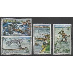 Congo (République du) - 1975 - No 383/386 - Animaux marins