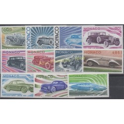 Monaco - 1975 - No 1018/1028 - Voitures