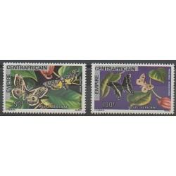 Centrafricaine (République) - 1977 - No PA181/PA182 - Insectes