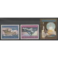 Centrafricaine (République) - 1982 - No PA258/PA260 - Espace - Navigation