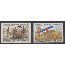 Centrafricaine (République) - 1983 - No PA293D/PA293E - Espèces menacées - WWF