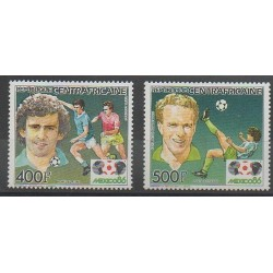 Central African Republic - 1985 - Nb PA330/PA331 - Soccer World Cup