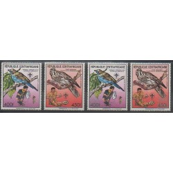 Central African Republic - 1988 - Nb PA371/PA372B - Scouts - Birds