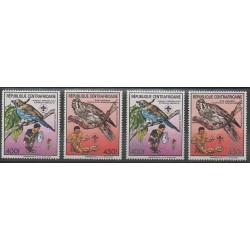Centrafricaine (République) - 1988 - No PA371/PA372B - Scoutisme - Oiseaux