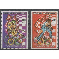 Central African Republic - 1990 - Nb PA392/PA393 - Winter Olympics