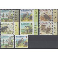 Aurigny (Alderney) - 2000 - Nb 146/151 - 146a - 147a - Birds - Raptors