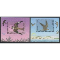 Liberia - 2001 - No BF418/BF419 - Oiseaux