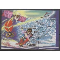 Centrafricaine (République) - 1990 - No BF102 - Jeux olympiques d'hiver