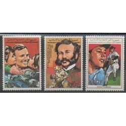 Comores - 1988 - No 477/479 - Santé ou Croix-Rouge - Espace - Sports divers