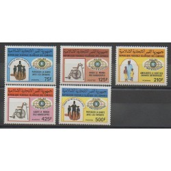 Comores - 1988 - No 450/454 - Enfance - Santé ou Croix-Rouge