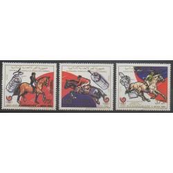 Comoros - 1989 - Nb 496/498 - Summer Olympics - Horses