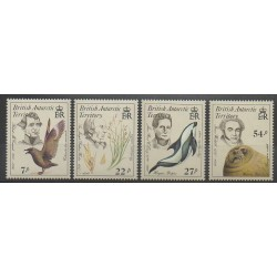 Grande-Bretagne - Territoire antarctique - 1985 - No 148/151 - Sciences et Techniques - Animaux marins - Mammifères