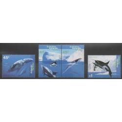Australie - territoire antarctique - 1995 - No 102/105 - Animaux marins - Mammifères