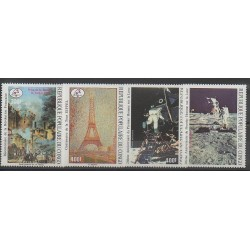 Congo (Republic of) - 1989 - Nb PA385/PA388 - Space - Paintings - French Revolution