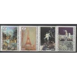 Congo (République du) - 1989 - No PA385/PA388 - Espace - Peinture - Révolution Française