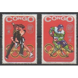 Congo (République du) - 1993 - No PA418/PA419 - Jeux olympiques d'hiver