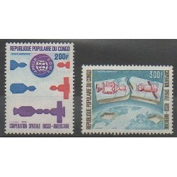 Congo (République du) - 1974 - No PA189/PA190 - Espace