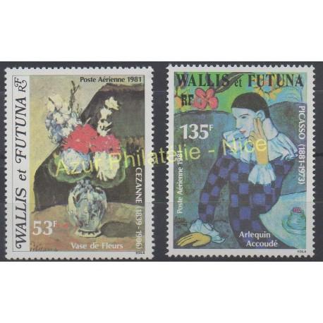 Wallis et Futuna - Poste aérienne - 1981 - No PA110/ PA 111 - Peinture