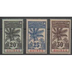 Guinée - 1906 - No 38/40 - Neuf avec charnière