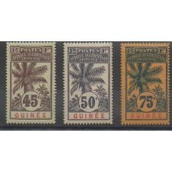 Guinée - 1906 - No 42/44 - Neuf avec charnière