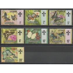 Malaisie-Sarawak - 1971 - No 220/226 - Insectes