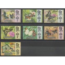 Malaisie-Johor - 1971 - No 150/156 - Insectes