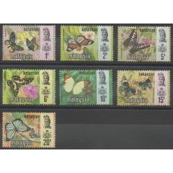 Malaisie-Kelantan - 1971 - No 104/110 - Insectes
