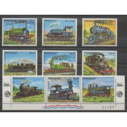 Paraguay - 1982 - No 1980/1986 - Chemins de fer