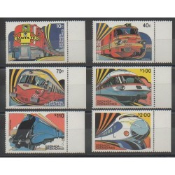 Grenadines - 1982 - No 455/460 - Chemins de fer