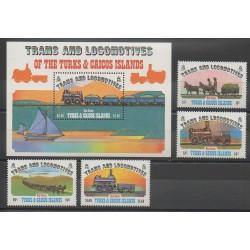 Turks et Caiques (Iles) - 1983 - No 610/613 - BF43 - Chemins de fer