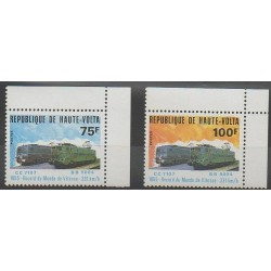 Haute-Volta - 1980 - No 508/509 - Chemins de fer
