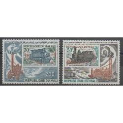 Mali - 1980 - No PA379/PA380 - Chemins de fer - Timbres sur timbres