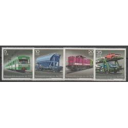 Allemagne orientale (RDA) - 1979 - No 2079/2082 - Chemins de fer