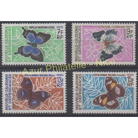 Nouvelle-Calédonie - 1967 - No 341/344 - Papillons