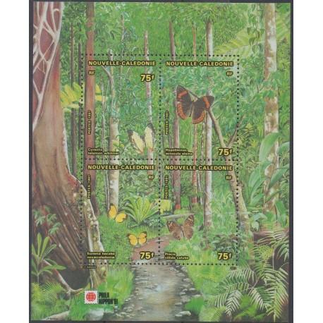 Nouvelle-Calédonie - Blocs et feuillets - 1991 - No BF 11 - Papillons