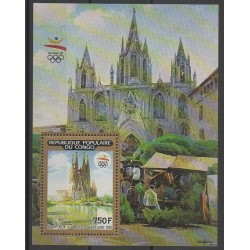 Congo (Republic of) - 1990 - Nb BF48 - Summer Olympics - Churches