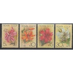 Russie - 1989 - No 5610/5613 - Fleurs