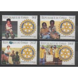 Congo (République du) - 1996 - No 1008/1011 - Rotary - Santé ou Croix-Rouge