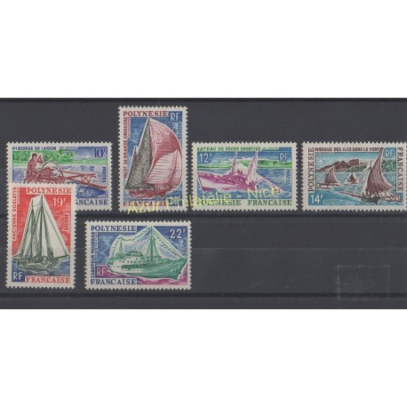 Polynésie - 1966 - No 36/41 - Bateaux