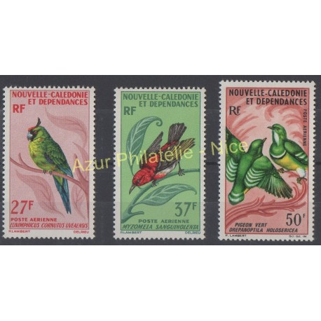 Stamps - Theme birds - New Caledonia - Airmail - 1966 - Nb PA 88/90