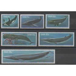 Namibie - Sud Ouest Africain - 1980 - No 423/428 - Mammifères - Animaux marins