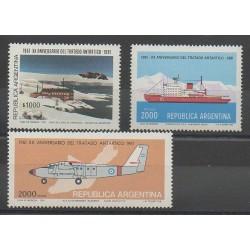 Argentine - 1981 - No 1246/1248 - Régions polaires